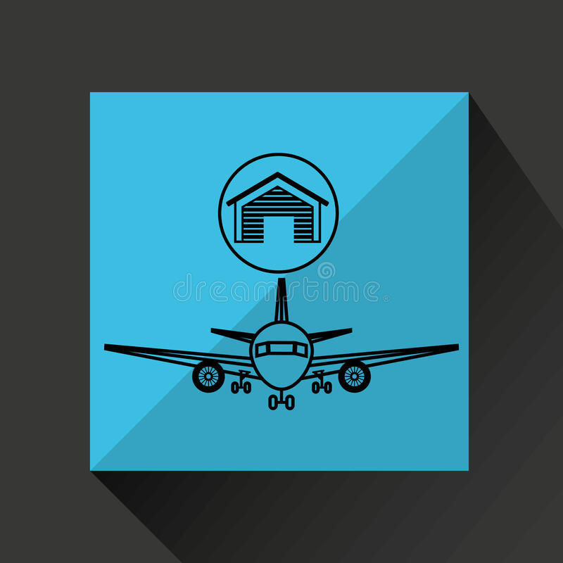 Aireal lagerbyggnadstransport vektor illustrationer
