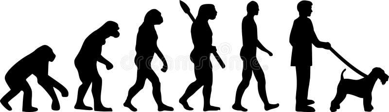 Airedale Terrier ewolucja royalty ilustracja