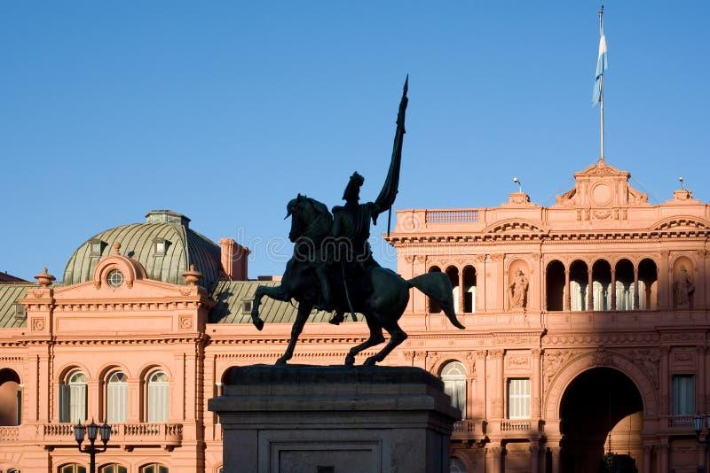 aires Argentina buenos casa domu menchii rosada zdjęcia stock