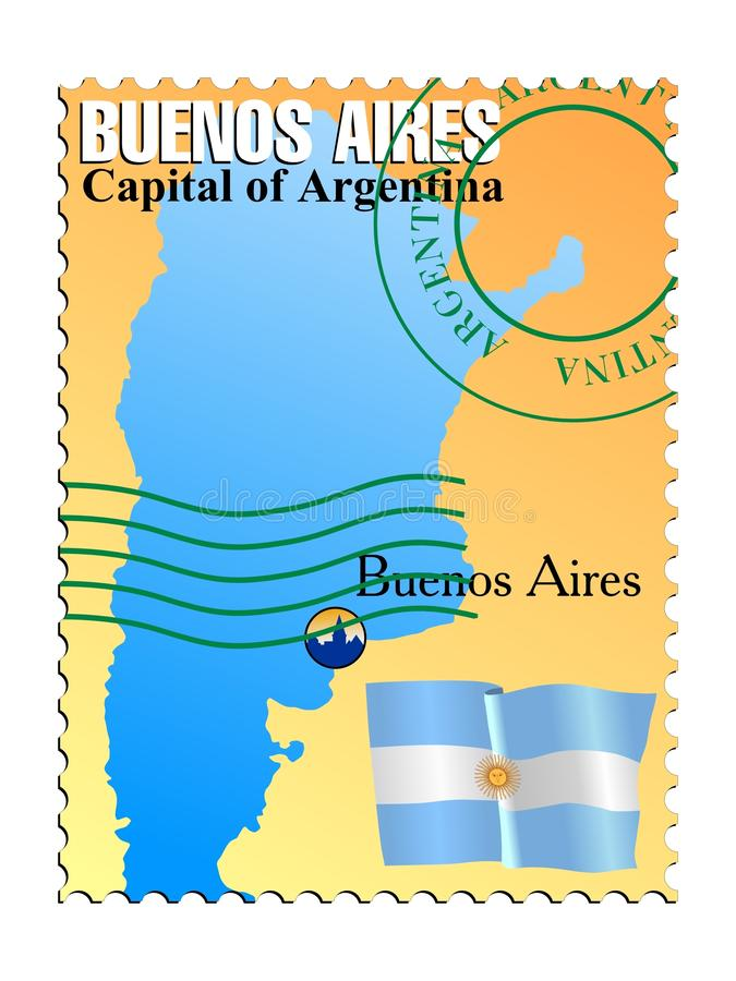 aires Argentina buenos kapitałowi royalty ilustracja