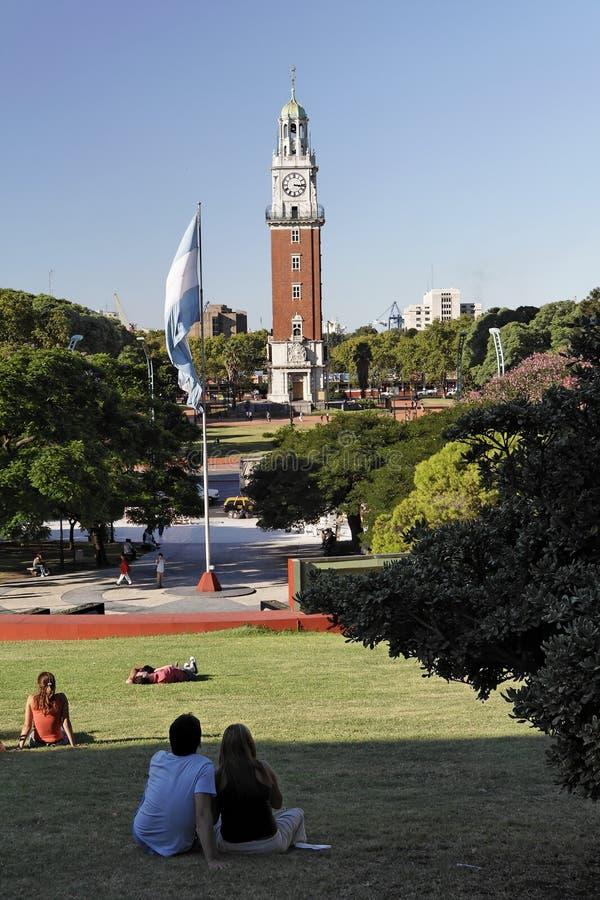 aires plaza SAN Martin buenos στοκ φωτογραφία