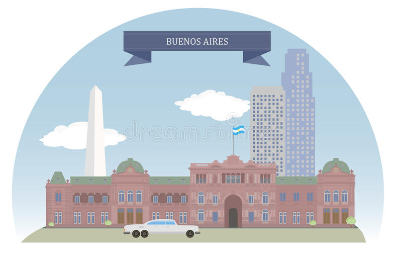 airesargentina buenos royaltyfri illustrationer