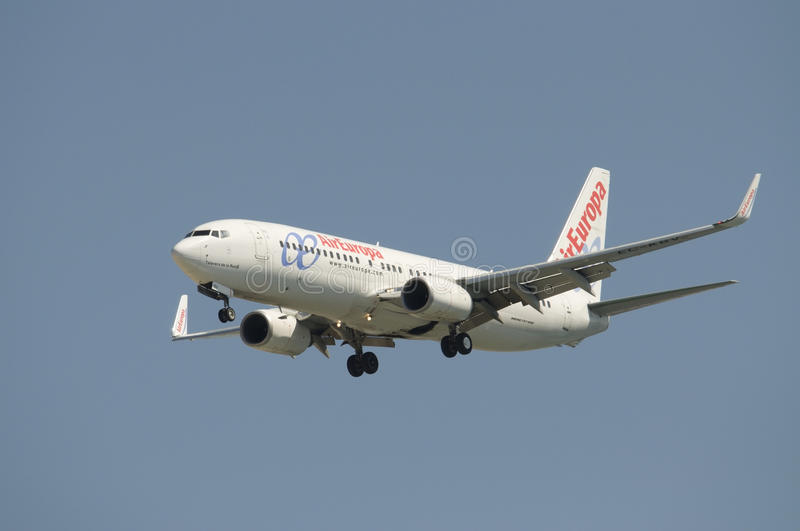 Download Aireuropa Boeing 737 editorial photography. Image of aireuropa - 16522552