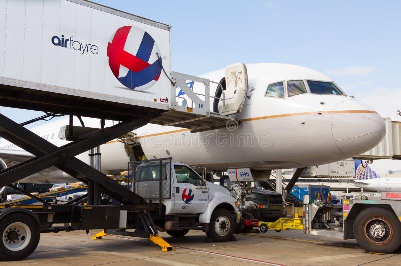 AirFayre United Airlines de abastecimiento fotos de archivo libres de regalías