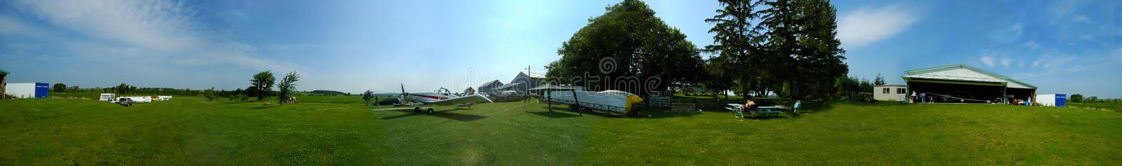 Airfield Pano royalty free stock photography