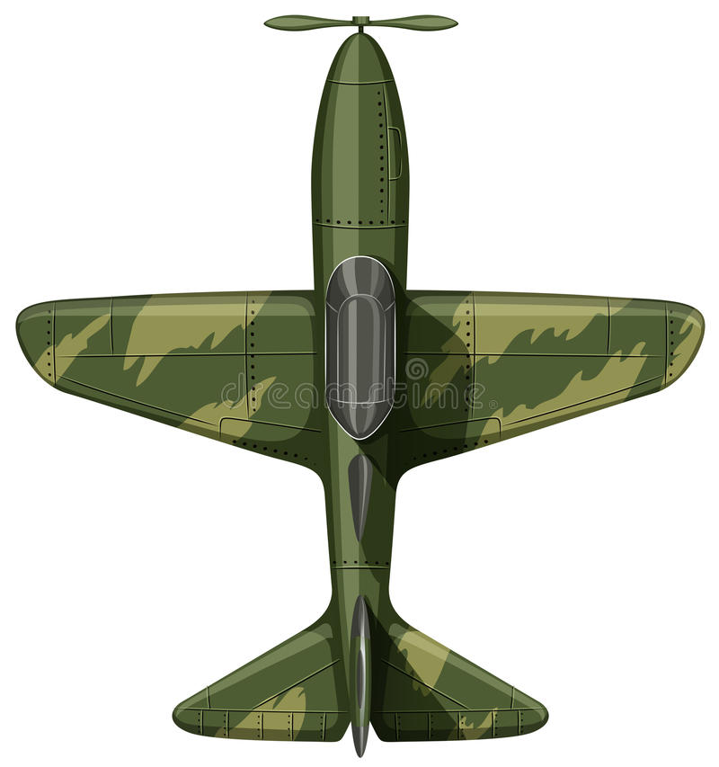 Download Airforce samolot w zieleni ilustracja wektor. Ilustracja złożonej z perspektywa - 57657503