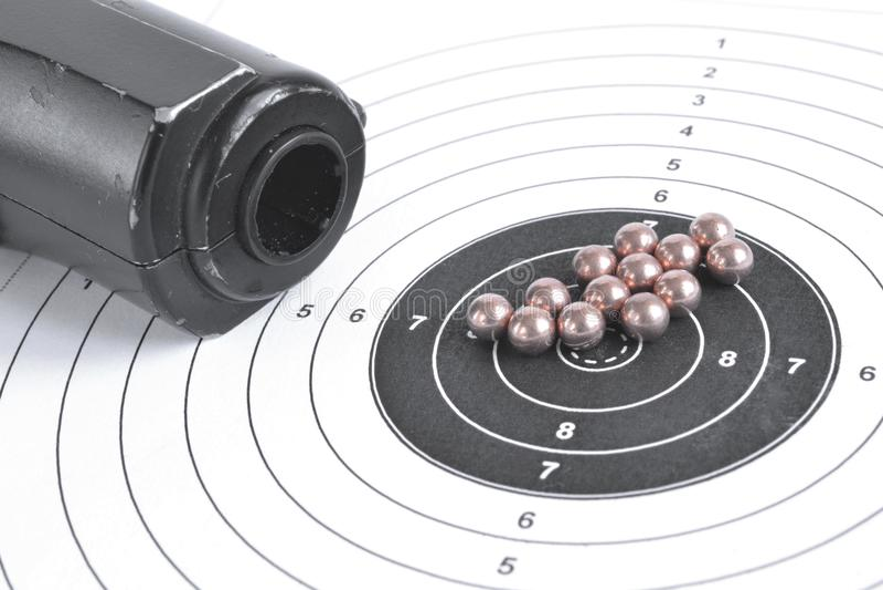 Airgun en kogels royalty-vrije stock fotografie