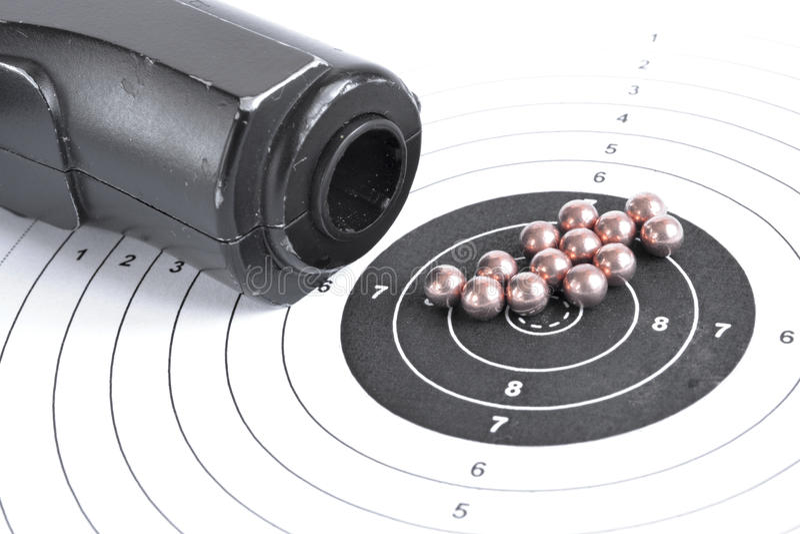 Airgun en kogels stock foto's