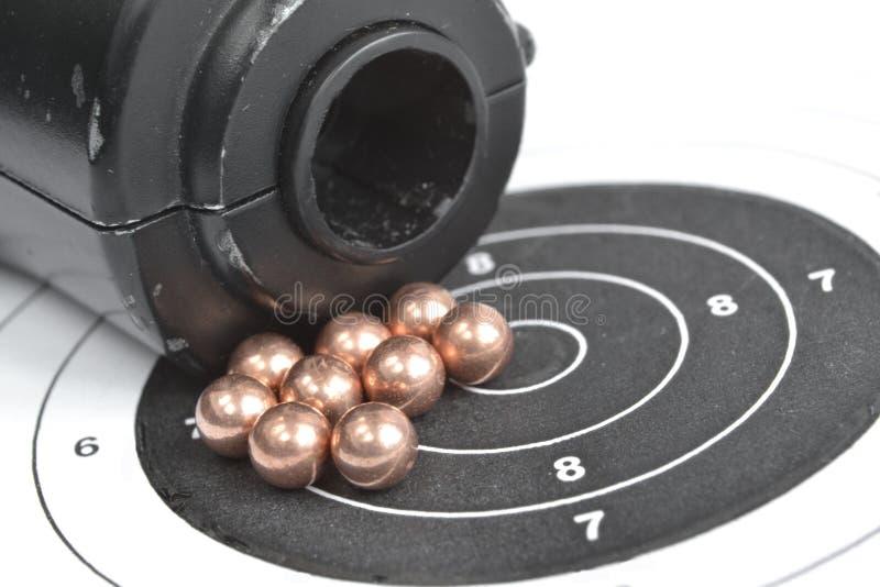 Airgun en kogels stock afbeelding