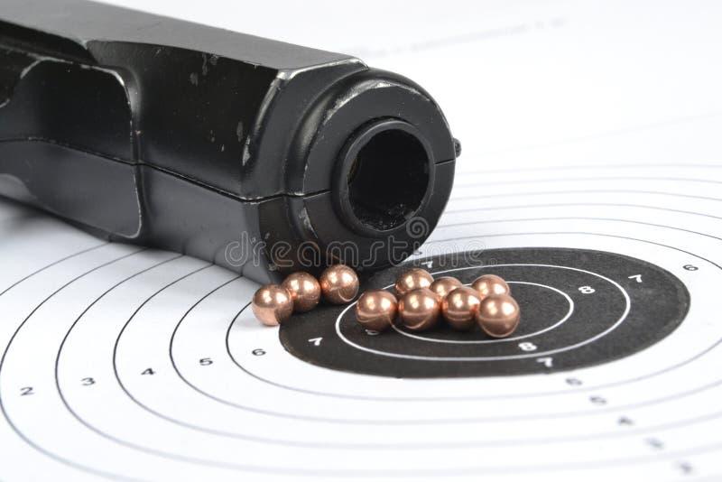 Airgun en kogels stock afbeeldingen