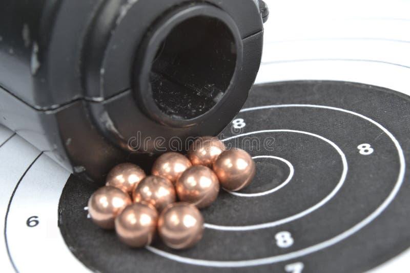 Airgun en kogels royalty-vrije stock foto's