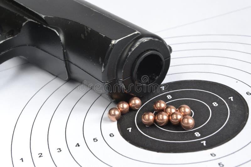 Airgun en kogels stock fotografie