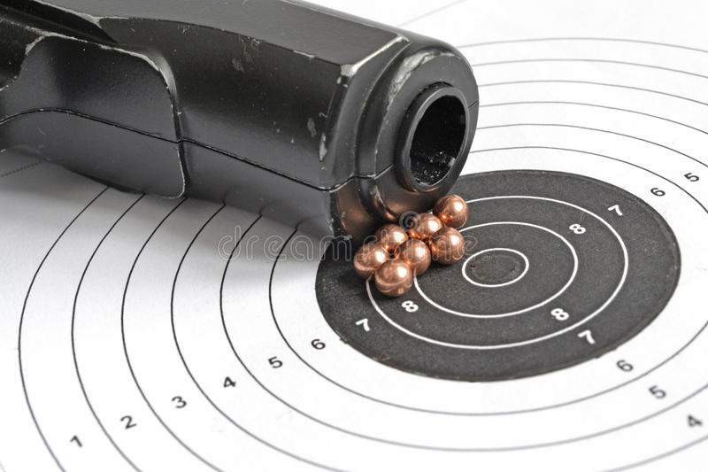 Airgun en kogels royalty-vrije stock foto