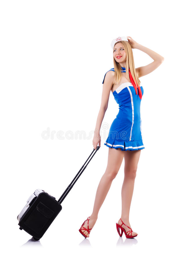 Download Airhostess With Luggage Royalty Free Stock Photos - Image: 30345578