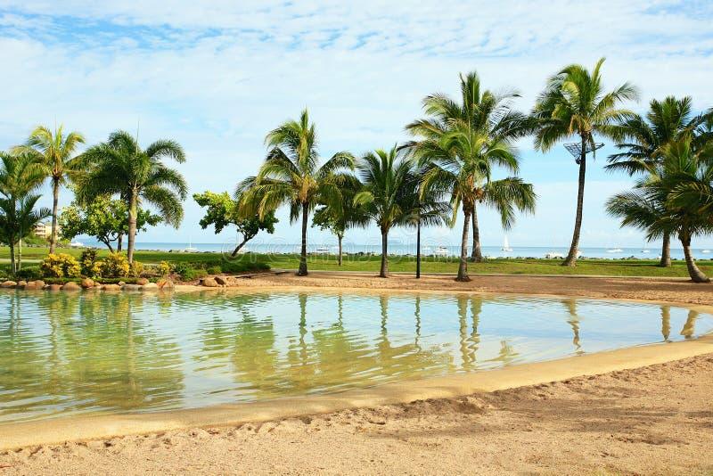 Airlie海滩盐水湖 库存照片
