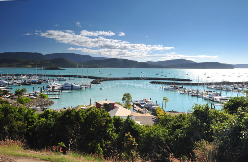 Airlie beach harbour marina , gateway to the whitsunday islands, queensland, australia stock images