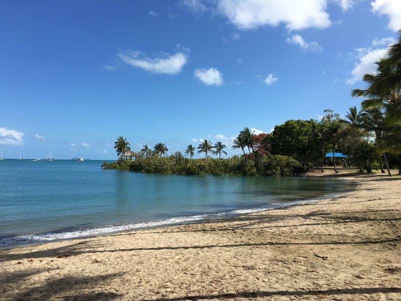 airlie strand zonnige dag stock fotografie
