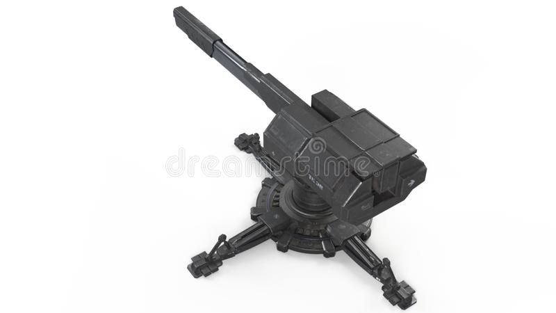 Airlift capable scifi Turret 3d rendering royalty free illustration
