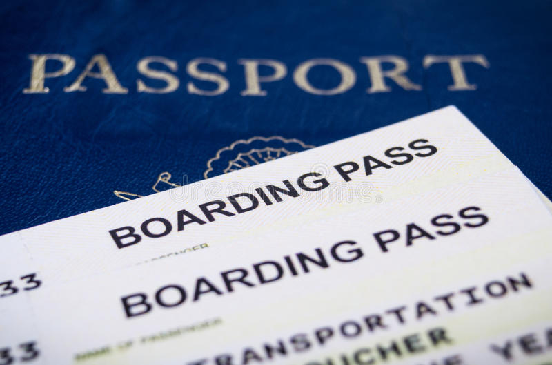 Airline boarding pass royalty free stock photo