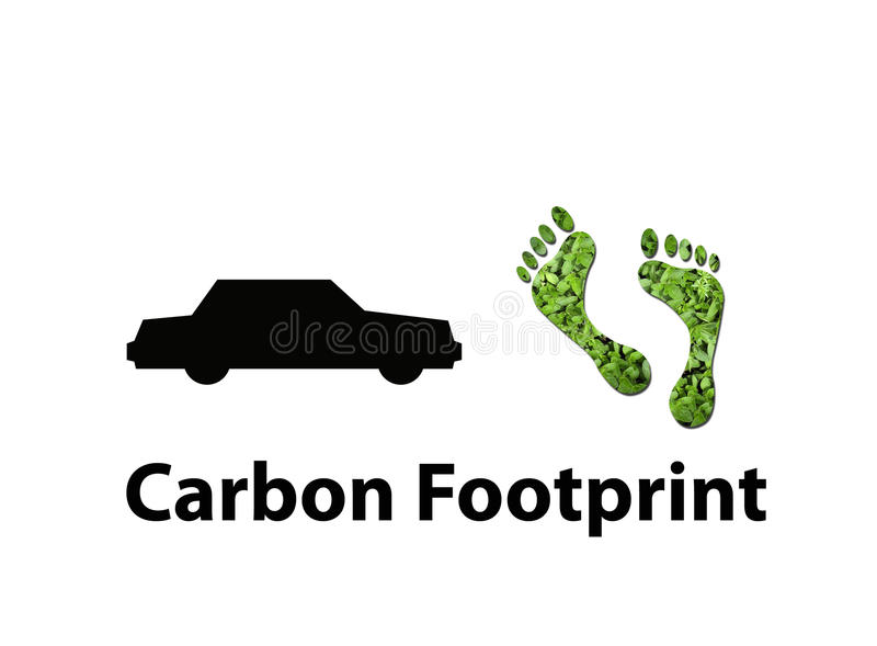 Download Airline carbon footprint stock illustration. Image of foot - 13277503