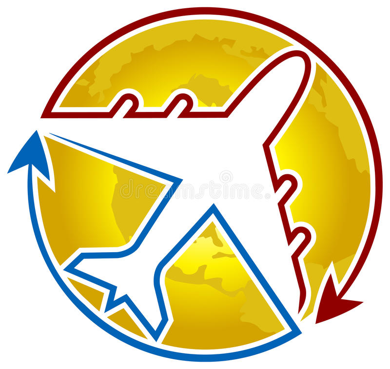 Airline logo. Isolated art work of airline logo vector illustration