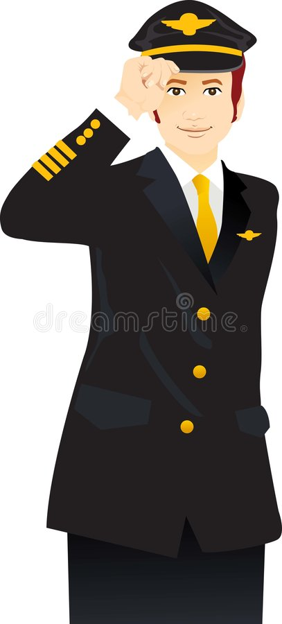 Airline pilot stock illustration