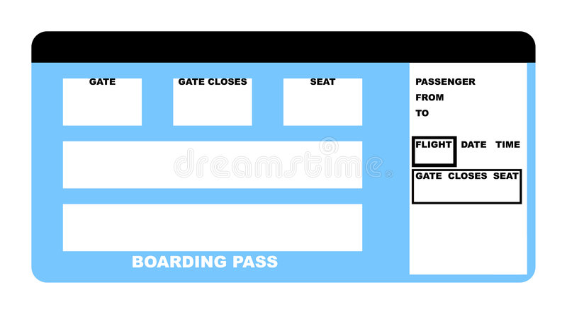 Airline ticket royalty free illustration