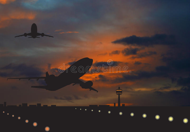 Airliner vector illustration