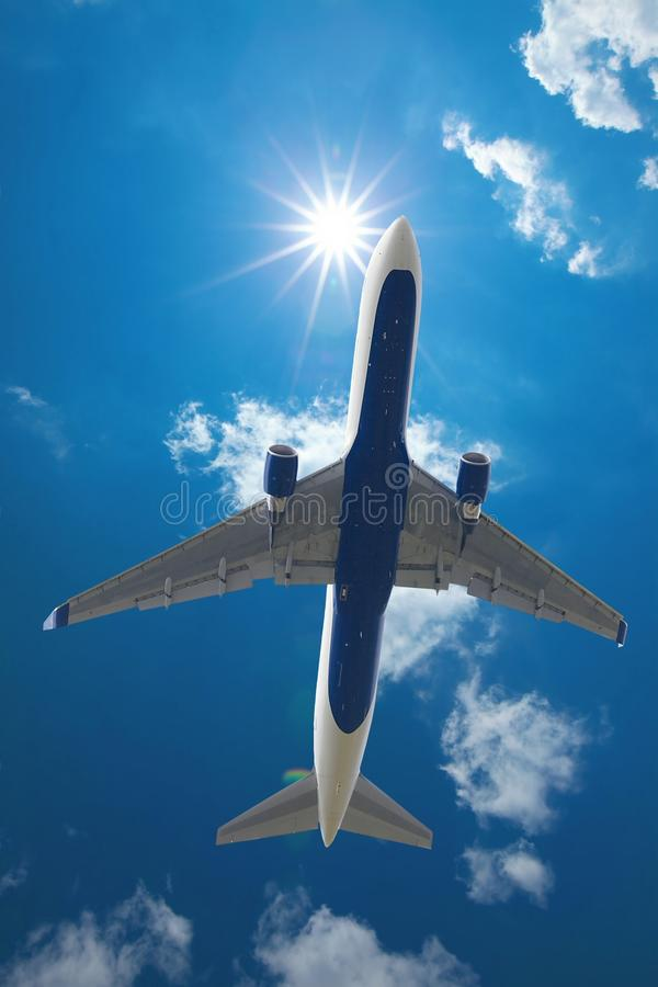Download Airliner stock photo. Image of jetplane, blue, high, delivery - 23794638