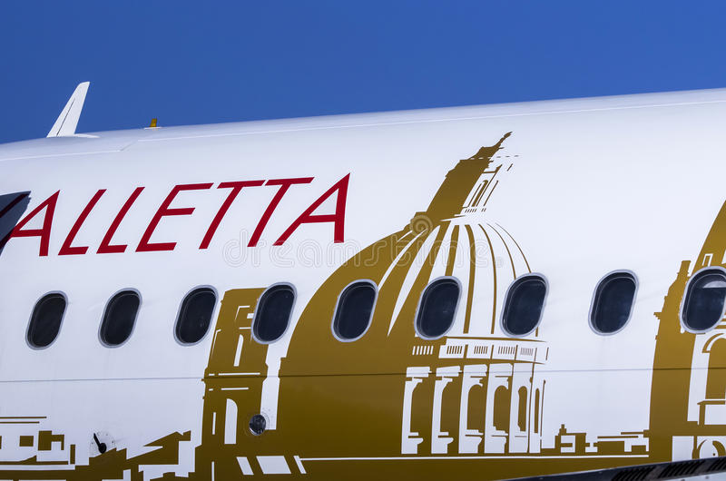 Air Malta plane royalty free stock image