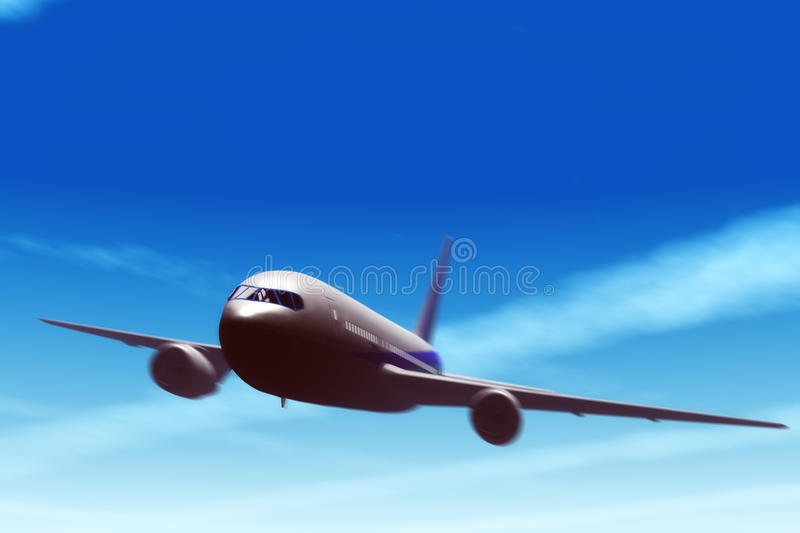 Download Airliner in fly. stock illustration. Image of cloud, blue - 17483957