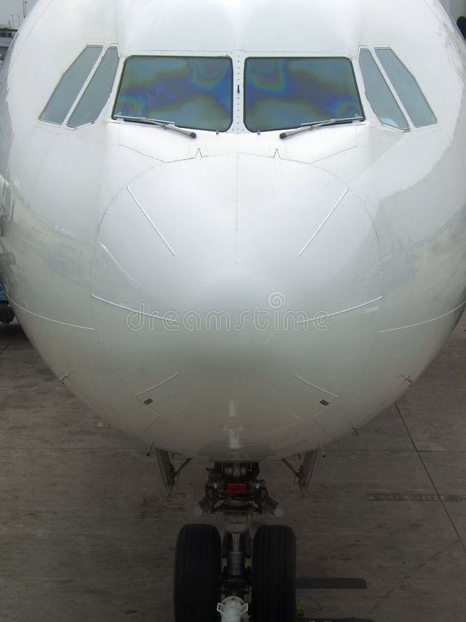 Download Airliner Nose And Landing Gear Stock Photo - Image: 2934936