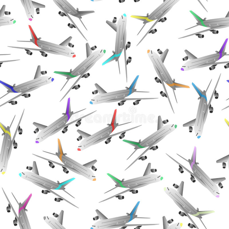 Download Airliner seamless patter stock vector. Image of arrival - 31433918