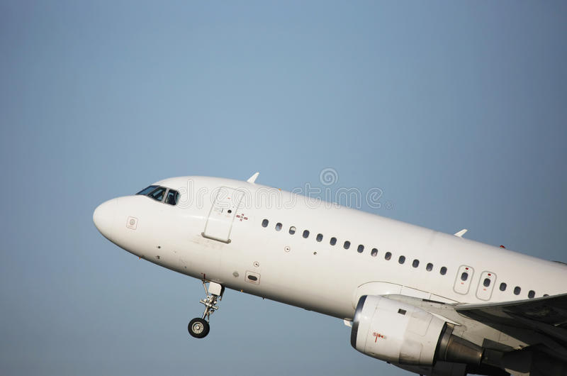 Download Airliner taking off stock image. Image of dramatic, closeup - 9648721