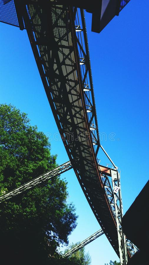 Airlines train. Architektur train Metall haven stock photography