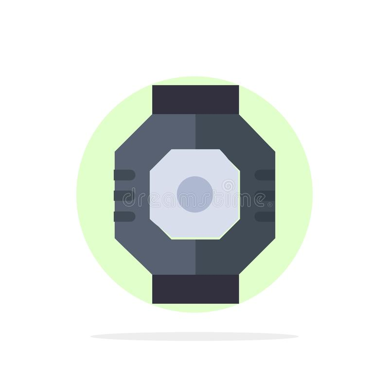 Airlock, Capsule, Component, Module, Pod Abstract Circle Background Flat color Icon vector illustration