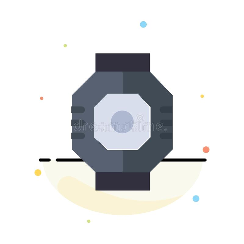 Airlock, Capsule, Component, Module, Pod Abstract Flat Color Icon Template vector illustration