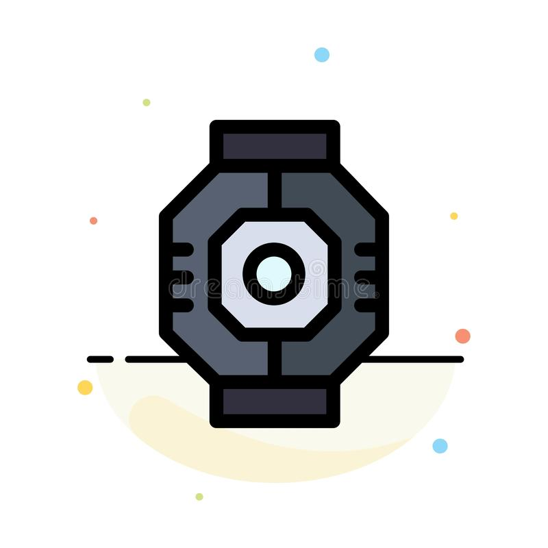 Airlock, Capsule, Component, Module, Pod Abstract Flat Color Icon Template stock illustration
