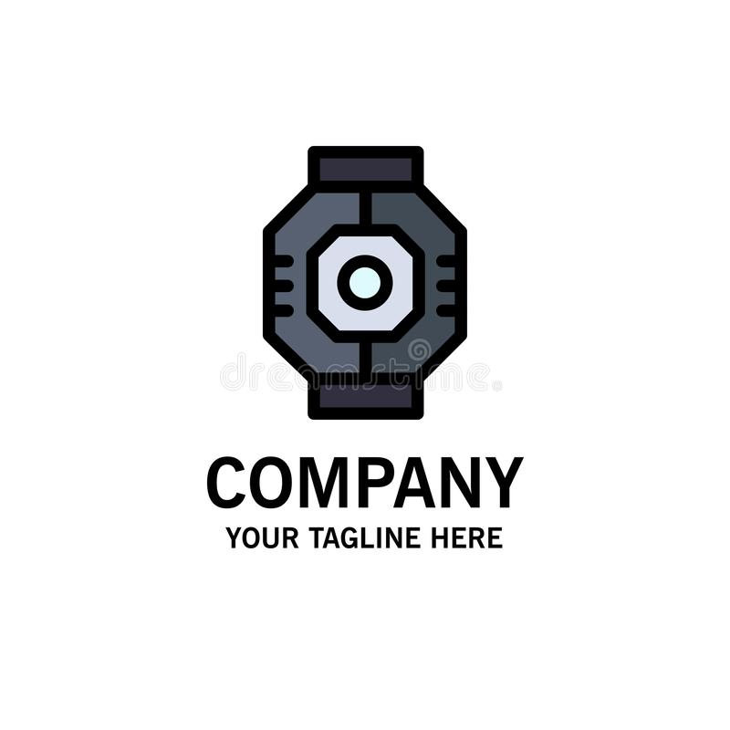 Airlock, Capsule, Component, Module, Pod Business Logo Template. Flat Color royalty free illustration