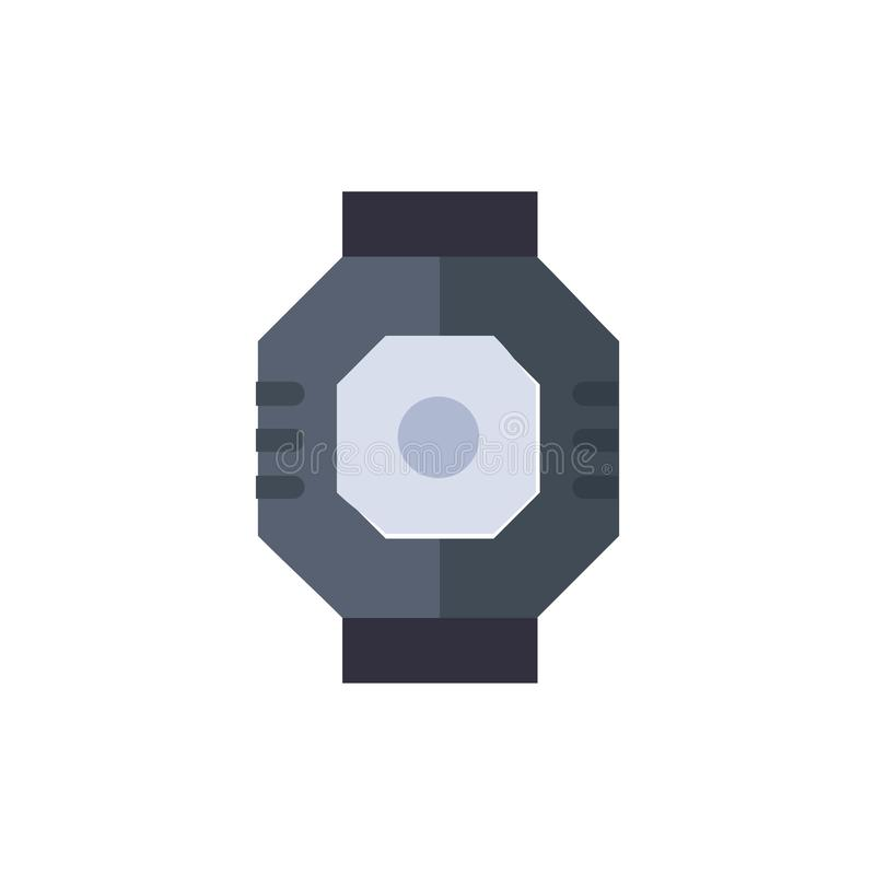 Airlock, Capsule, Component, Module, Pod  Flat Color Icon. Vector icon banner Template stock illustration