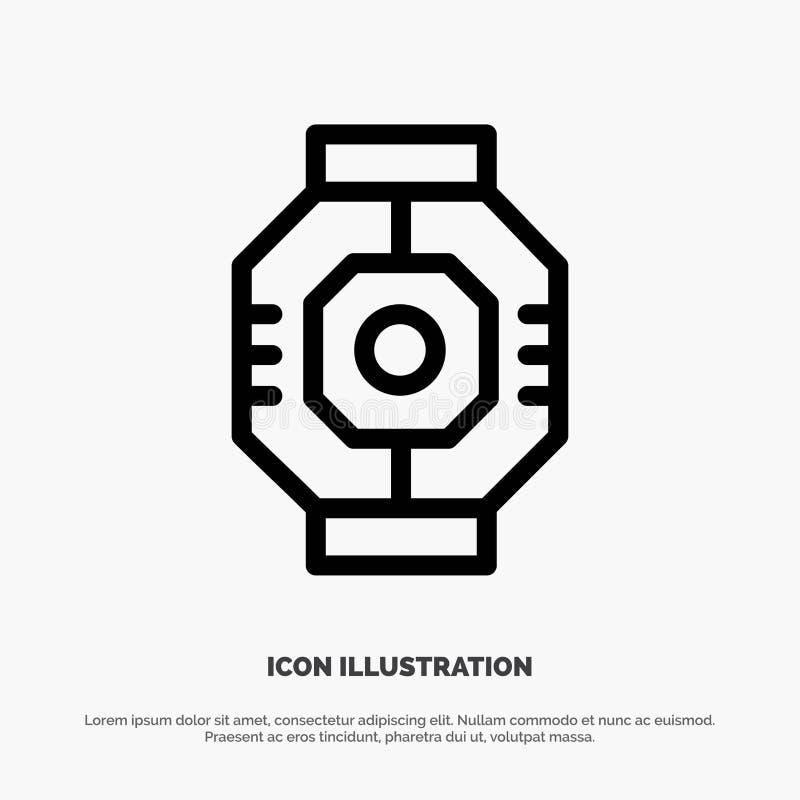 Airlock, Capsule, Component, Module, Pod Line Icon Vector stock illustration