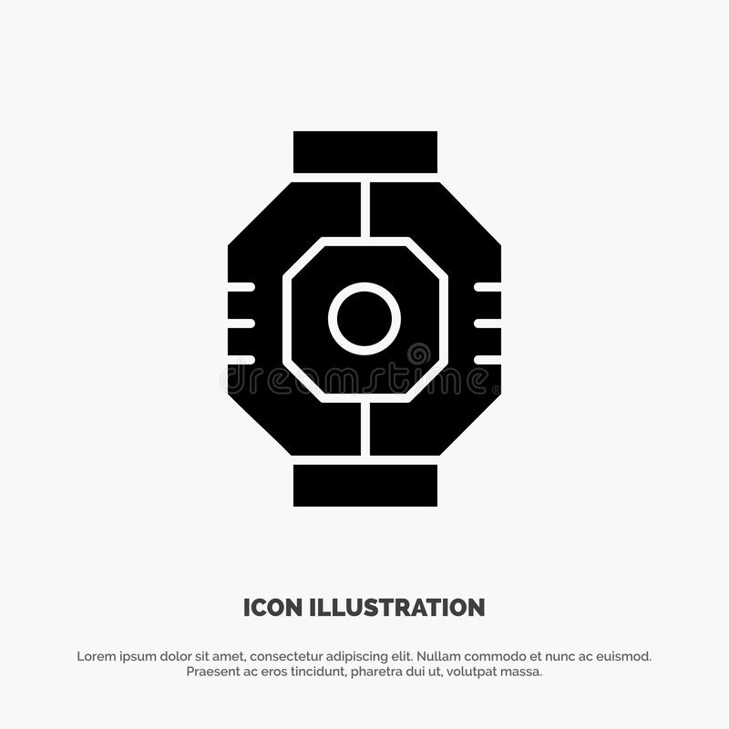 Airlock, Capsule, Component, Module, Pod solid Glyph Icon vector vector illustration