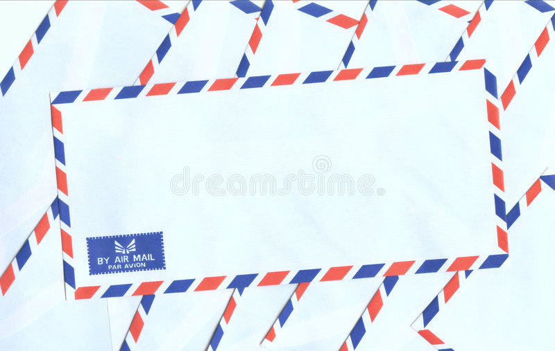 Airmail. Envelopes with clipping path royalty free stock images