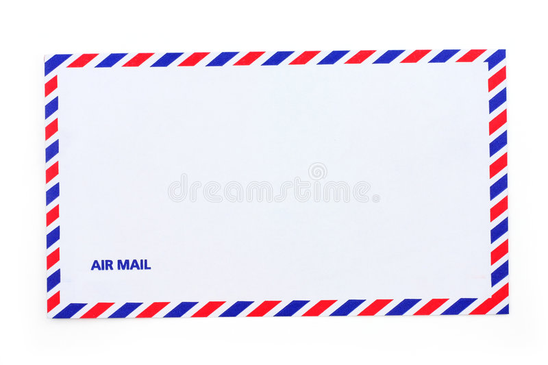Airmail envelope. A airmail envelope, close up royalty free stock photography