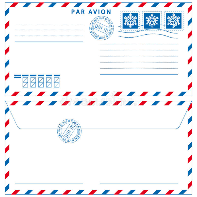 Download Airmail envelope stock vector. Image of blank, mark, airmail - 26557828