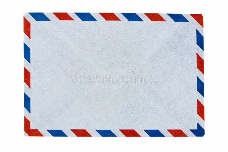 For airmail envelope. Easy envelope to use airmail stock photos