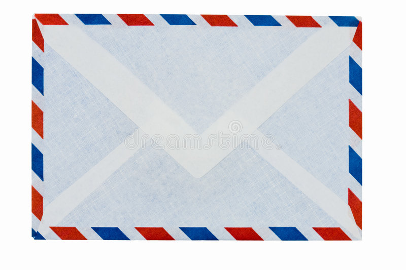 For airmail envelope. Easy envelope to use airmail stock photo