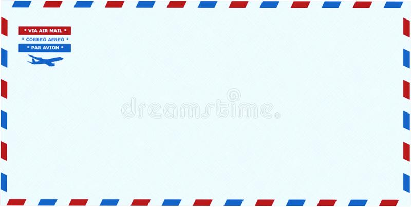 Airmail Envelope, Stationary, Isolated, Mail. Par avion airmail envelope stationary. Used for mailing letters through air mail. isolated on white. PNG file stock photo