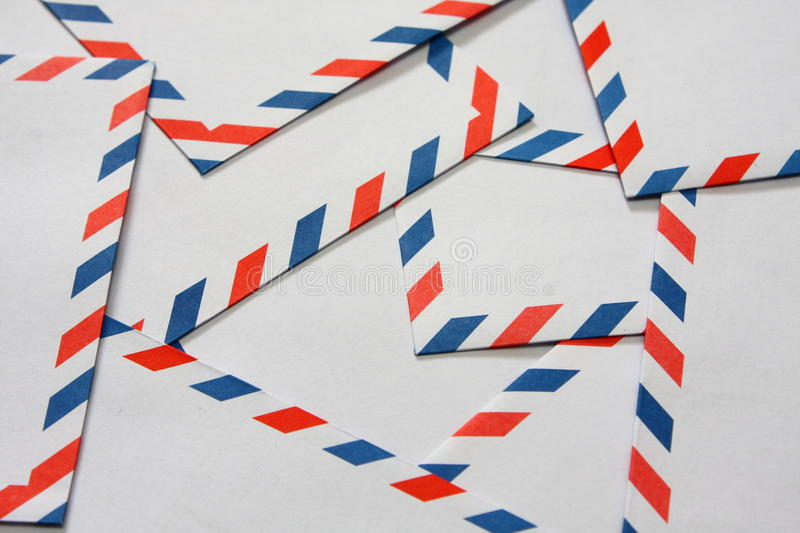 Download Airmail Envelopes stock image. Image of convey, contact - 15792019
