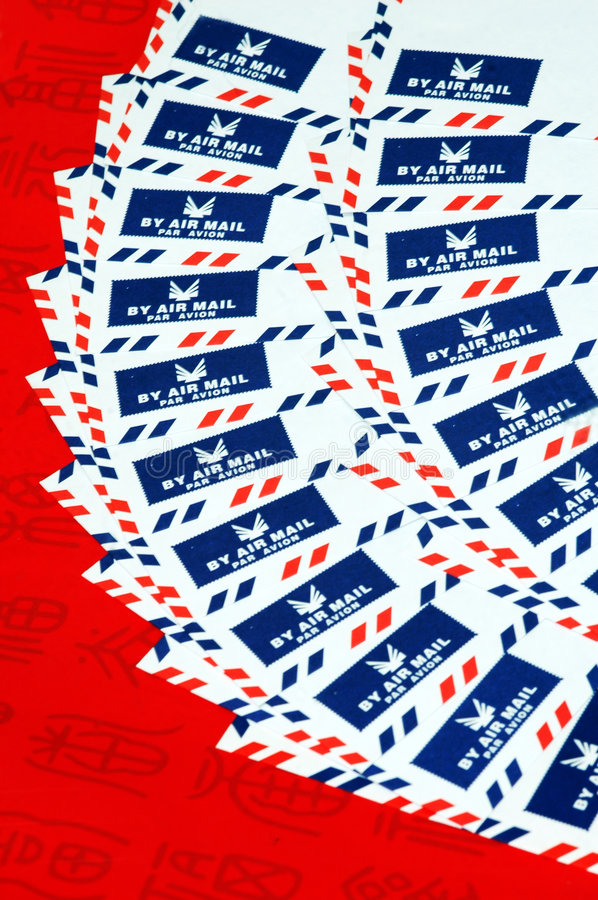 Airmail Envelopes. Background created with airmail envelopes stock photography